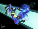 Lucario Used FOOT CANNON by dogatemyshrooms