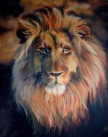 lion portrait by Ankaraven