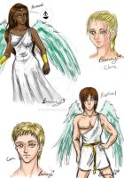 DAD: Day 47 - Archangels and Character Busts by Rabbit-of-the-Moon