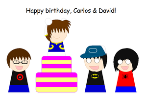 Happy Birthday, Carlos and David by ThunderWolfang