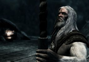 Skyrim character : Eorlund Gray-Mane by skyrimphotographer