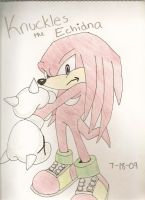 Knuckles the Echidna by westiegirl1124