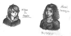 Hazel and Nico Doodles by TheMuzbo