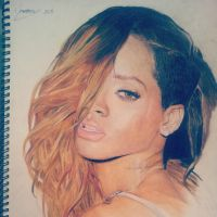 Rihanna - Rolling Stone 2 Portrait by Mooney95