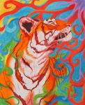 Fun With Colors - Orange Tiger by WindSong83
