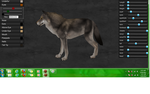 Timber Wolf Side View by PaintedTreasure