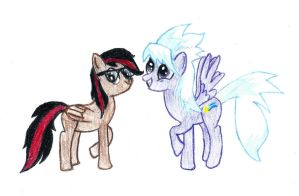 Cloudchaser and my Oc Hail Fire by BigD565