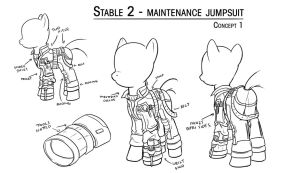 Overmare Studios: Stable 2 Maintenance Jumpsuit by Jeffk38uk