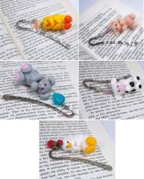 Animal Bookmarks by HeartshapedCreations