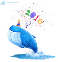 Daily Paint #1136. Happy New Year! by Cryptid-Creations