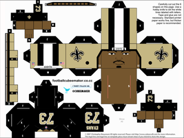 Jahri Evans Saints Cubee by etchings13