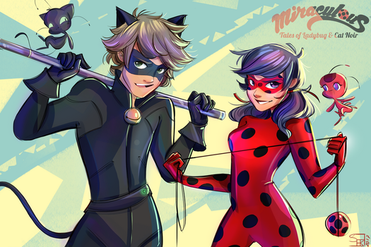 Miraculous Ladybug and Chat Noir by Samiriam