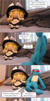 A comic about plushies by beats0me