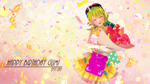 Happy birthday Gumi! by Emy-san