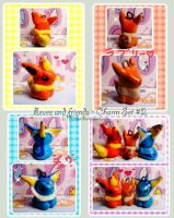 Eevee and friends Charm Set 2 by Ririko