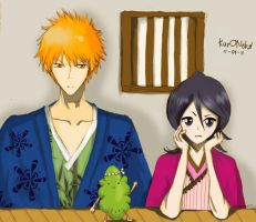 bleach ichiruki by Kur0kitsuNe