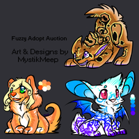 Fuzzy Adopt Auction by MystikMeep