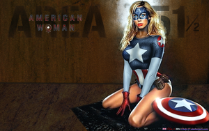 BABEWORLD161: COSPLAY: AMERICAN WOMAN (Blue Steel) by CSuk-1T
