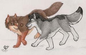 For Silverfoxwolf by selunca