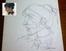 One line portrait by meathive