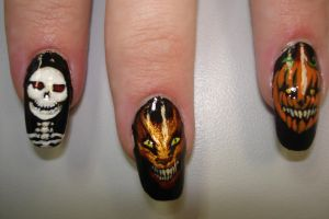 halloween nails 2 by fink