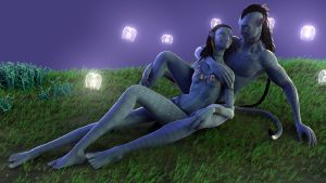 Neytiri and Jake by Fierox