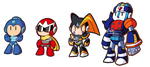 Rockman Power Fighter Chibi by Kamira-Exe