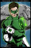 Green Lantern Digital Colouring by montgomerydigital