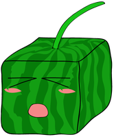 Chibi Fruit: SquareWatermelon by DarkPiro