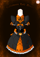 Halloween Loli Dress by Neko-Vi