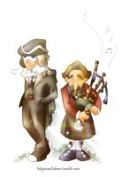 Descole and Raymond: Scottish Pride by MagicianCelemis