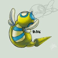 Dunsparce by Nanasschevelu