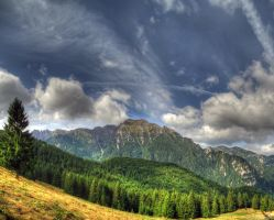 Bucegi Mountains Panorama by Zerseu