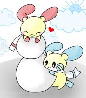Making snowman together .:CE:. by Chimihara45