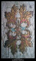Painted Design on Wood by Angelrat-Stock