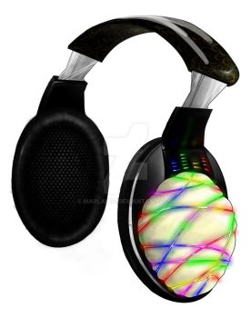 Neon Headphones by marlalee