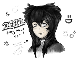 2012 New Year + Tablet XD by Kirsche-Hawthorn