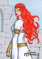 Macha Sketch Card - Classic Mythology II by ElainePerna