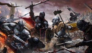 Game of Thrones Ascent Fire and Blood Battle Epic by MikeGardnerArt