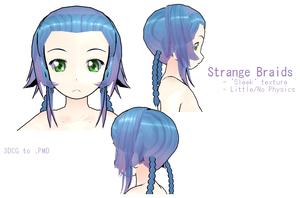 MMD- Strange Braids -DL by MMDFakewings18