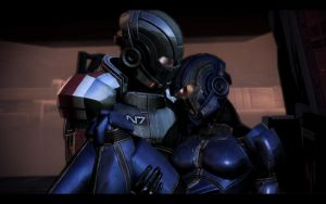 ME3 Shepard and Ashley by chicksaw2002
