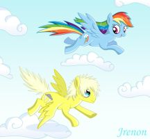 C1: Me and Rainbow Dash by Jrenon