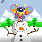 Snow Butterfly by JimmyCartoonist
