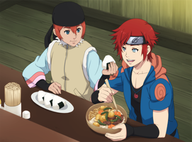 Uhmm betch I'm eating here... by ichan-desu