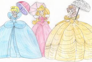 Parasol Princesses by Aquateen510