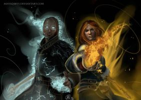 Dragon age 2 mages by Mistiqarts