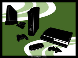 Console Gaming Shapes by Authoritee