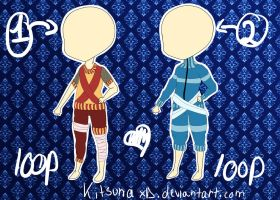 Adoptables #3(outfits)[OPEN] by KitsunaXD