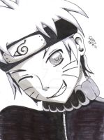 black and white Naruto by steffi555