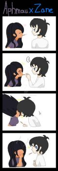 Aphmau and Zane Pocky Game~!!! by MLPLover623